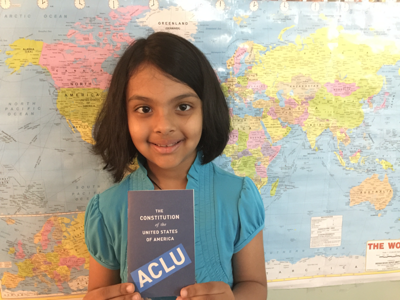 Pragna: ACLU-NH's Youngest Fan